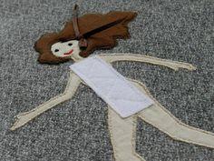 decorazione borsa con bambola da vestire .................. bimbambuki