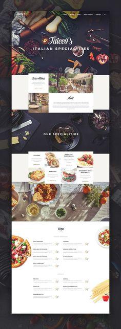Faicco's italian Restaurant website restyling. Ui design concept by Virgil Pana on Dribbble.