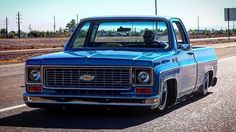 Hot Wheels - Mean as shot via @c10.nation of @squarebodysyndicate rolling in SS01 to the @brotherstrucks show , super cool truck! @accuair #chevrolet #gmc #c10 #squarebody #airsuspension #bagged #raked #stance #layframe #chopped #hotrod #streetrod...