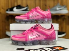 4da8d9eace18a Nike Air VaporMax 2019 Purple Pink   Mtllc Sliver AR6632-600 Women s  Running Shoes  AR6632-600