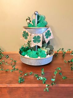 Excited to share this item from my shop: Tiered tray decor, St Patrick's Day tiered tray, St Patrick's Day banner, St Patrick's Day mini banner, shamrock banner St. Patrick's Day Diy, St Patricks Day Quotes, St Patricks Day Food, Saint Patricks, Diy St Patricks Day Decor, St Patrick's Day Crafts, Holiday Crafts, Diy Crafts, Holiday Ideas