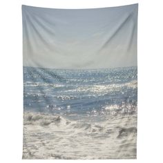 The Deny Designs Lisa Argyropoulos Crystal Blue Wall Tapestry gives you an ocean view 365 days of the year. This stunning wall tapestry features a photograph. Tapestry Wallpaper, Dorm Tapestry, Blue Tapestry, Tapestry Bedroom, Tapestries, Make A Closet, Simple Closet, Sparkling Waters, Black Rooms