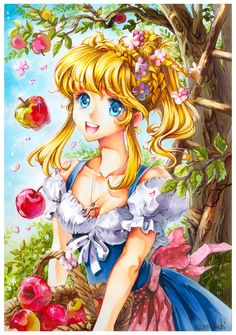 apple picking season by Naschi.deviantart.com on @deviantART