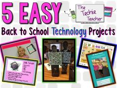 The Techie Teacher: 5 EASY Back to School Technology Projects – Tech Ideas for 2019 Teaching Technology, Technology Integration, Educational Technology, Technology Tools, Technology Lessons, Teaching Computers, Technology Management, Technology Design, Energy Technology