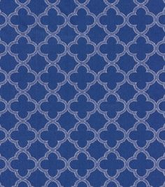 Home Decor 8''x 8'' Fabric Swatch Upholstery-Waverly Framework Navy