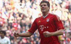 Mario Gomez of Bayern Munich, hat trick hero against Hoffenheim. He's top class forward! :-)