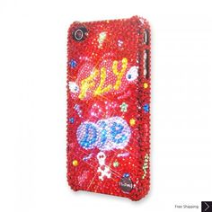 Fly Or Die Bling Swarovski Crystal iPhone 5 Case