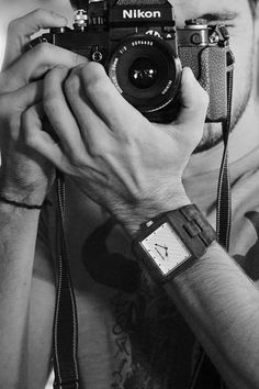 Wear a natural, one of a kind, handcrafted wood watch on your wrist! Photography Lessons, Portrait Photography, Camera Obscura, Camera Lens, Cool Photos, My Photos, Boy Fashion, Mens Fashion, Techno