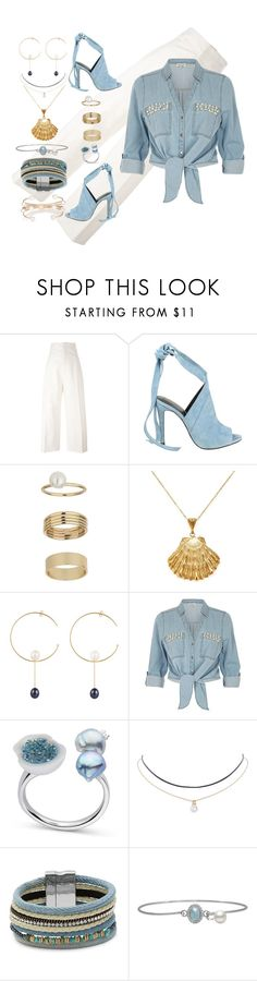 """""""I Love Denim"""" by nisha-naenae ❤ liked on Polyvore featuring Jacquemus, Kendall + Kylie, Miss Selfridge, Ottoman Hands, Sweet Pea by Stacy Frati, ZAK, Humble Chic, Design Lab and Kenneth Jay Lane"""