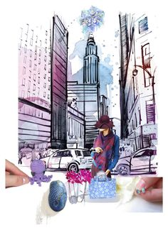 """Shopping street"" by marlena-rakoczy ❤ liked on Polyvore featuring Disney, Fall, etsy, fallfashion and yoinscollection"