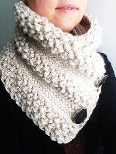 Tricot tutoriel de col en gros fil/tour de cou tricot