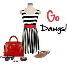 Love this UGA Gameday dress. Go #Dawgs!