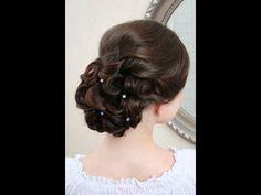 Bridal updo. Wedding hairstyle. Victoria Skimbator ★★★★★ parikmaxer TV USA - YouTube
