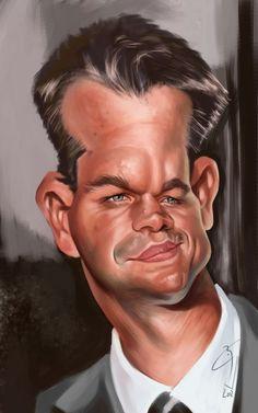 Matt Damon - CARICATURE: http://dunway.com/
