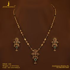 Gold 916 Premium Design Get in touch with us on Jewelry Design Earrings, Gold Earrings Designs, Gold Jewellery Design, Jewelry Stand, Gold Mangalsutra Designs, Gold Jewelry Simple, Simple Necklace, Necklace Chain, Gold Chain Design
