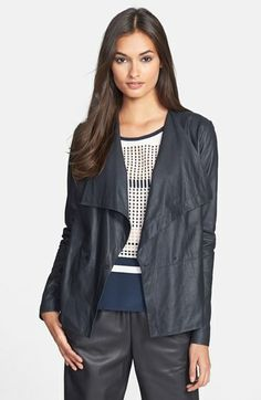 Vince 'Paper' Draped Leather Jacket available at #Nordstrom