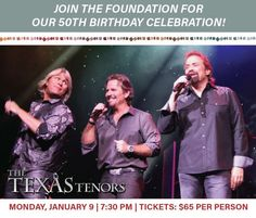 Celebrate the Foundation's 50th anniversary on Monday, January 9, 2017 @7:30pm at the Phoenix Convention Center during the AFBF Annual Convention.      See The Texas Tenors perform live and special guest appearance by Miss America Savvy Shields! http://www.agfoundation.org/news/2017-foundation-night-out-event