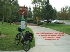 Hicks Canyon Trail: Exit 5 at Culver and travel NE to Viewpark Ave.  Left on Viewpark.  3864 Viewpark Ave., Irvine.  Take kid's bikes.