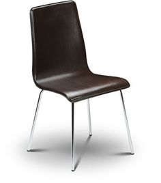mardy black leather chair
