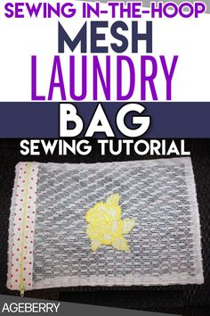 In the hoop embroidery tutorial on making DIY mesh bag for washing delicates, underwear and socks. Learn how to make free in the hoop zippered bag to wash delicates safely in the washing machine without tangles or snagging. Master your laundry with this sturdy DIY lingerie wash bag. #sewingtutorials #diyprojects #howtosew #sewingprojects