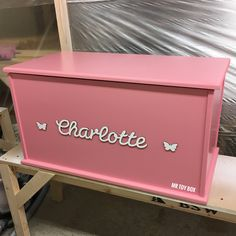 Toy Box - Bespoke Handmade Children's Toy Storage Box Trunk Chest personalised blanket box (Girls...  https://www.etsy.com/listing/523642135/toy-box-bespoke-handmade-childrens-toy?utm_campaign=crowdfire&utm_content=crowdfire&utm_medium=social&utm_source=pinterest