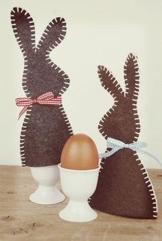 Hasen Eierwärmer aus Filz DIY mit Anleitung
