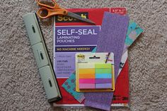 Instructions to make your own DIY dashboard to hold sticky notes in your planner. Organized Chaos: Plan With Me Sundays