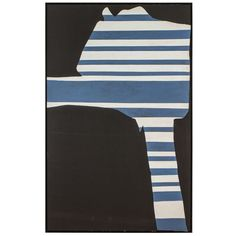 """""""Stripes on Black"""" by Adja Yunkers   From a unique collection of antique and modern contemporary art at https://www.1stdibs.com/furniture/wall-decorations/contemporary-art/"""