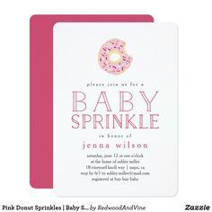Pink Donut Sprinkles | Baby Sprinkle Invitation