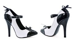5 Inch Heel Sexy Shoes Two Tone Oxford Pump Shoes Mary Jane Shoes White Black Size: 6 Black And White High Heels, Lace Up High Heels, High Heel Pumps, Pump Shoes, Stiletto Heels, Shoe Boots, Shoes Heels, Black White, White Pumps