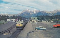 Historical Photos Photographs of Banff Yoho National Park, National Parks, All About Canada, Alberta Canada, Banff Alberta, Canadian Pacific Railway, Union Station, Model Trains, Historical Photos