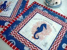 badian / Sea Animals in  Blue - sada 2 ks