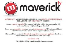 Maverick TV are casting for a brand new Channel 4 TV series and desperately want #Vegans and #Vegetarians  who are trying to lose weight and who are determined to do so.  If you are interested please contact  Jarek Rozenfeld at j.rozenfeld@maverick.co.uk  or call him on 0121-224-8353  ( #UK #diet #vegan #vegetarian #TV #Casting #BeOnTV )  https://twitter.com/jarekrozenfeld/status/484660523909521408/photo/1