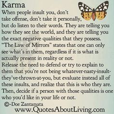 karma, quotes, sayings, long, life, wisdom, mirror | Inspirational ...