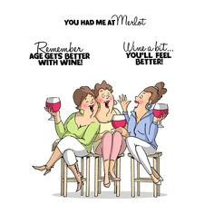 Create invitations for a girl's night out with the Wine Tasters Unmounted Rubber Stamp Set from Art Impressions! The package contains four stamps that measure Art Impressions Stamps, Create Invitations, Love Quotes For Him, Funny Cards, Digital Stamps, Birthday Wishes, Illustrators, Girlfriends, Comics