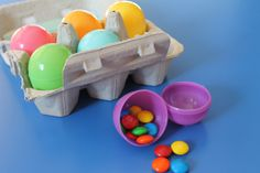 a simpler version of resurrection eggs for toddlers to understand.