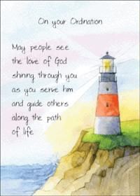 ordination greetings | Card - On Your Ordination (Lighthouse)