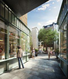 King's Court retail courtyard, Covent Garden. DBOX 2013