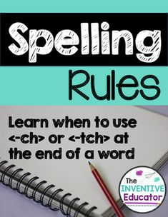 These no-prep spelling worksheets teach students when to use -k and when to use -ck at the end of a word. This product can be used as a guide for your spelling lessons, as word work, or as the perfect addition to your literacy centers. Spelling For Kids, Spelling Rules, Spelling Worksheets, Spelling Patterns, Name Activities, Vocabulary Activities, Writing Resources, Teacher Resources, English Spelling