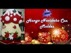 Como Hacer Cubresillas Navideño De Hongo Con Moldes Gratis. 2019 - YouTube Diy And Crafts, Christmas Bulbs, Make It Yourself, Wallpaper, Holiday Decor, Youtube, Manta Polar, Home Decor, Videos