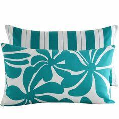Pretty teal pillows