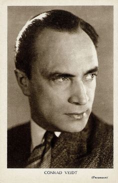 Conrad Veidt (1893–1943) was the most highly strung and romantically handsome of the German expressionist actors. From 1916 until his death, he appeared in well over 100 films