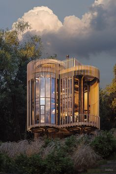 Tree House Constantia on Behance Nature Architecture, Architecture Design, Sci Fi Wallpaper, Cool Tree Houses, Tree House Designs, Modern Architects, Building Design, Exterior Design, Designer