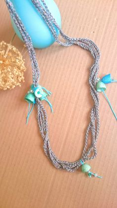 Hey, I found this really awesome Etsy listing at https://www.etsy.com/listing/270462328/crochet-necklace-silk-cocoons-necklace