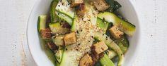 Gurken-Zucchini-Salat mit Räuchertofu • Vegan Taste Week