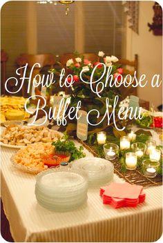 How to Choose a Buffet Menu