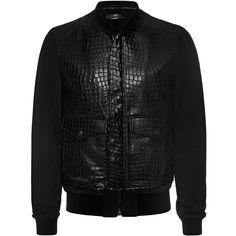 ALEXANDER MCQUEEN | Jackets & Coats | Embossed Leather Jacket