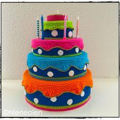 Gratis Patroon Verjaardagstaart by Nienepien