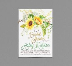 Items similar to Sunflower Invitation, Bridal Shower Invite Printable, Gender Neutral Baby Shower Invitations, Sunflower Birthday Invite Spring Floral Yellow on Etsy Bridal Shower Invitations, Birthday Invitations, Birthday Cakes, Baby Birthday, Jordan Baby Shower, Floral Invitation, Invite, Birthday Gifts For Husband, Gender Neutral Baby Shower