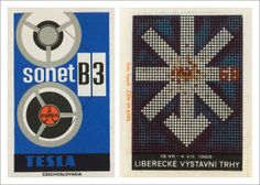 Czech matchbox labels. So much fun!! via aqua-velvet.com #design #modernism #czech